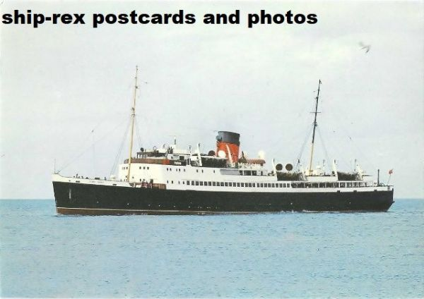 KING ORRY (1946, Isle Of Man Steam Packet) postcard (a1)